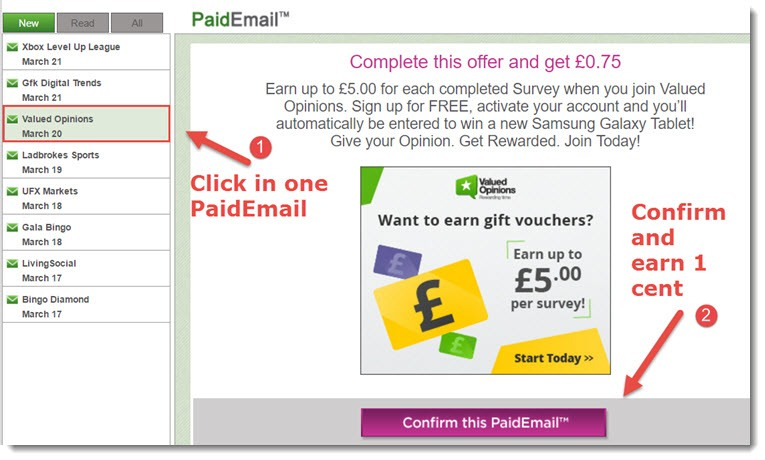 PaidEmail system