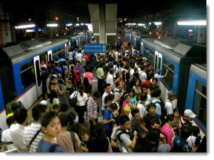 Crowded underground