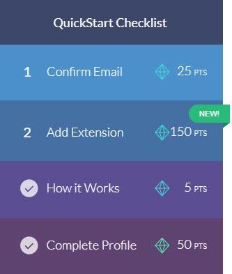 quickstart checklist