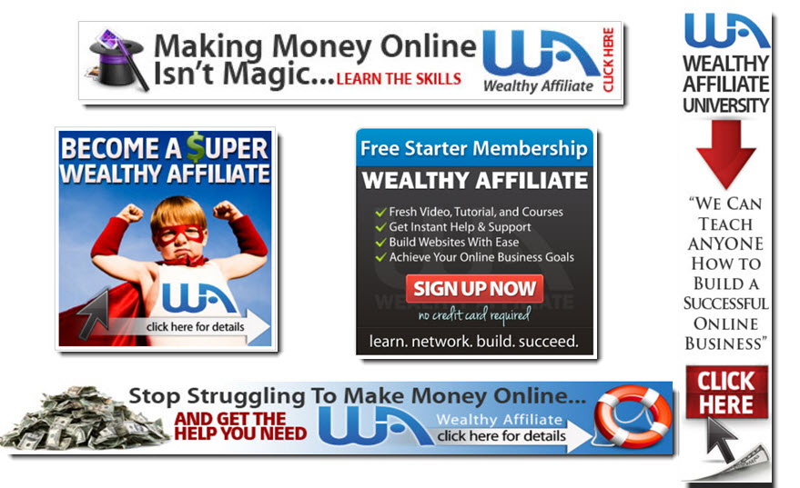 Wealthy Affiliate banners