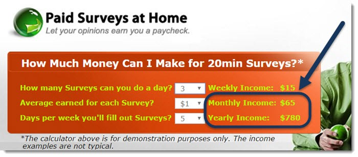 Calculator - How much can I make for 20 min survey