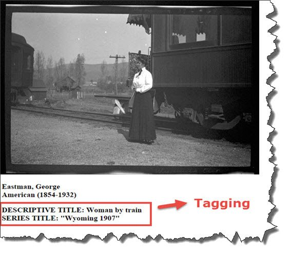 Example of tagging using an image from the George Eastman House collection