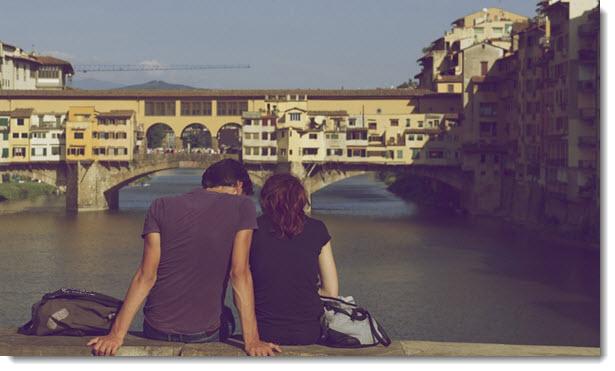 couple at the bridge
