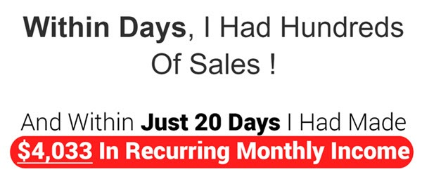 hundreds of sales within days