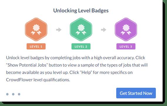 crowdflower - level badges