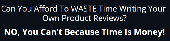 you can't afford to waste time writing your own reviews