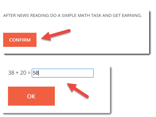 confirm and earn