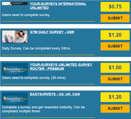 rewarding ways surveys