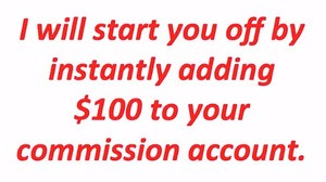 $100 into your account