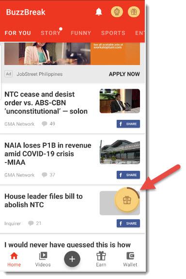 Make Money Online In Nigeria with buzzbreak news feed