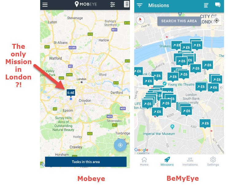 mobeye vs bemyeye map