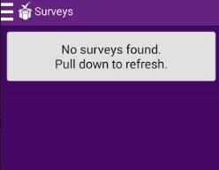 no survey