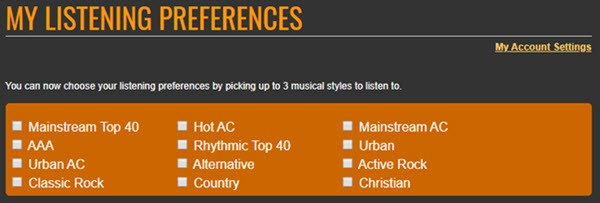 listening preferences