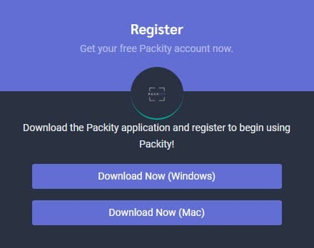 packity registration