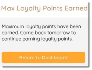max loyalty points reached