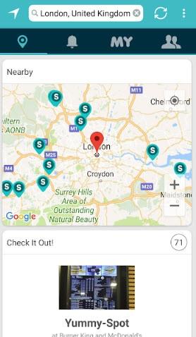 spots on google maps