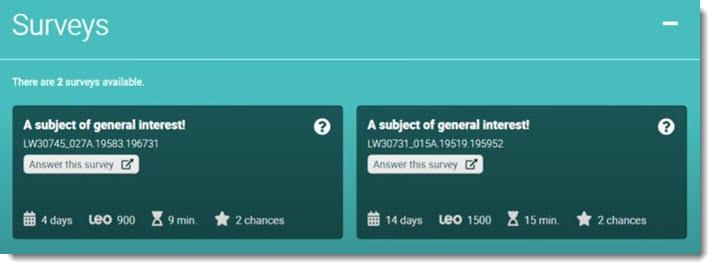 LEo surveys