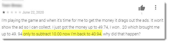 subtracting money