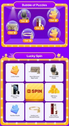 lucky spin puzzles