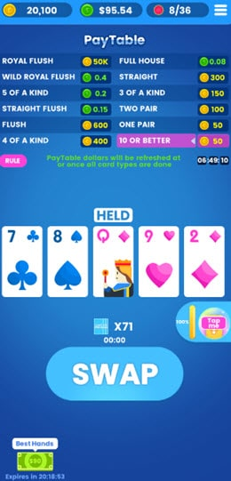 playing Lucky spade