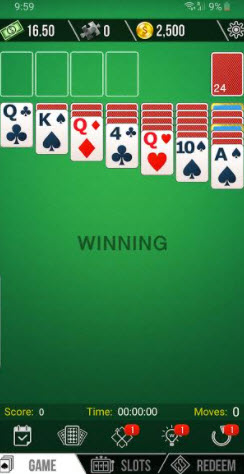 cash solitaire game play